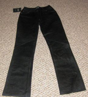 Womens Black Soft Lamb Leather Pants Size 4 New BLOWOUT Sale