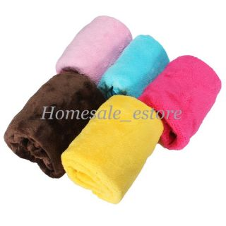 5 Colors Warm Cozy Soft Practical Pet Dog Cat Fleece Handcrafted Blanket Mat