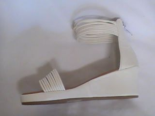 Girls White Wedge Sandals 20 9 Youth Sz 9