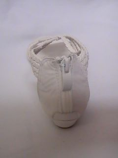 Girls White Rope Design Sandals Up 9 Yth Sz 9