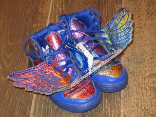 New Kids Adidas Jeremy Scott JS Rainbow Wings Toddler Shoes Size 9K Q35467