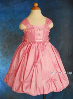 40 Sale Pink Flower Girl Wedding Party Dress Sz 12 18M