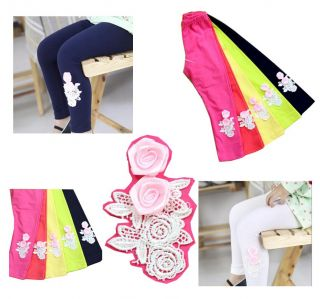 Baby Children Girls Roses Candy Color Bottom Outer Wear Leggings Pants