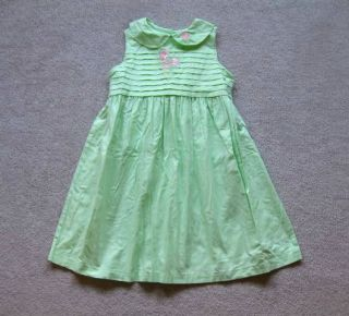 Girls Spring Summer Sundress Dress 6X Green Bonnie Jean Excellent