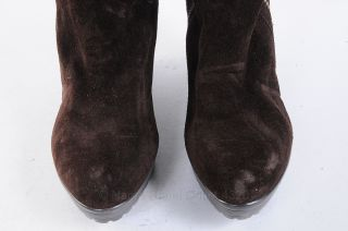 Womens Brown Leather Knee High Boots