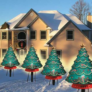 Outdoor Large Christmas Tree Stake Path Lights