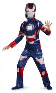 Boys Child Marvel Iron Man 3 Iron Patriot Light Up Arc Reactor Costume Outfit