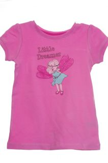 Girl Baby Toddler Fairy Angel Pixie Pink Shirt Size 12 18 24 Months 2T 3T 4T New