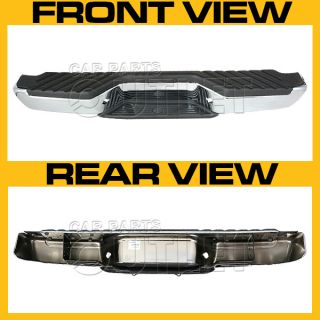 98 04 Nissan Frontier Rear Chrome Step Bumper Black Pad Bracket License Lamp New