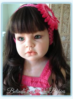 Reborn Big Girl Doll OOAK Angelica Reva Schick with Luscious Real Human Hair Wig