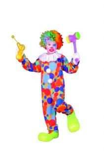 Polka Dots Clown Child Boy Costumes Circus Jester Kids Jumpsuit Costume 90202