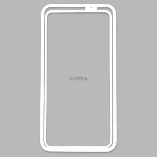 Clear TPU Silicone Bumper Cover Frame Case with Side Buttons for HTC One M7