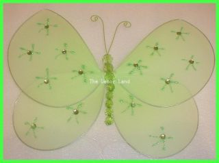 "Green 10"" Butterfly Wall Hanging Nursery Decoration Garden Bug Baby Room Theme"