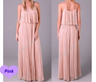 Women's Pleated Boho Sexy Maxi Long Dress Chiffon New