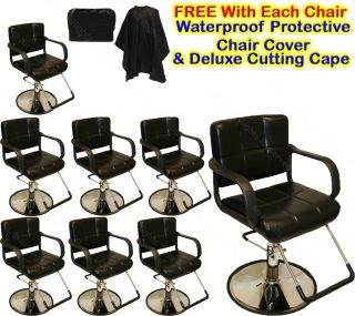 8 New Classic Hydraulic Barber Chairs Styling Hair Chair Beauty Salon Equipment