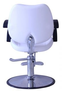 Professional White Hydraulic Styling Barber Chair Hair Beauty Salon Equipment