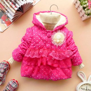 Baby Girls Clothes Autumn Winter Coat Kid Jacket Dress 12M 3Y 3Colors Free SHIP