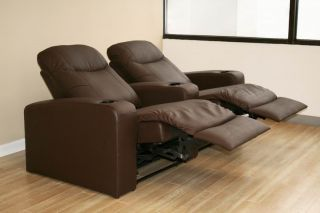 Home Theater Seating Recliner Movie Chairs 2 Seats