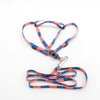 Adjustable Print Rope Small Pet Dog Cat Rope Lead Leash Harness Chest Strap 1cm