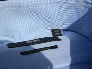 New Hugo Boss Mens Blue Double Cuff Selection Bag Shoes Tie Tailored Suit Shirt