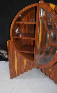 Art Deco Glass fronted Bookcase Display Cabinet 1920s Furniture