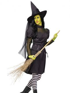 Gothic Adult Sexy Women Wicked Witch Costume Cosplay Fancy Dress Halloween Party