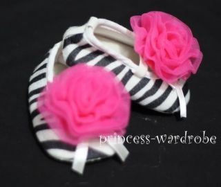 Pink Zebra Baby Shoes