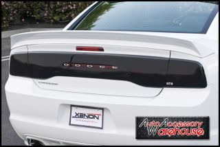 Dodge Charger 2011 12 Smoke Tail Light Covers and Center Blackout by GT Styling
