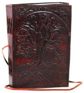 Sacred Oak Tree Blank Page Book Handcrafted Leather Writing Journal