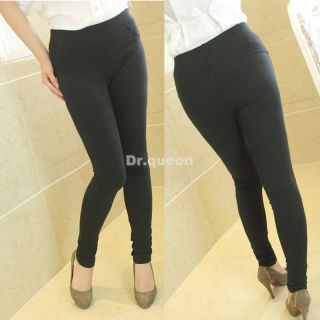 Women Lady Solid Winter Skinny Pants Trousers Leggings Tights Stretchy Plus Size