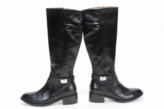 COLE HAAN D38417 NIKE AIR KINLEY 8 5 black leather KNEE HIGH boot shoe 448 NEW