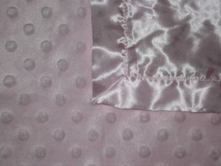 Light Pink Minky Dot Security Blanket Lovey Baby Girl Satin Back
