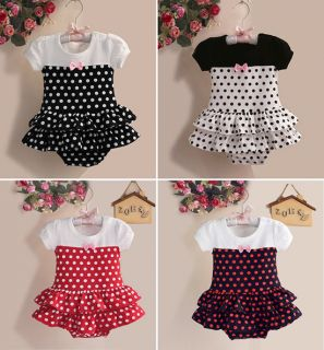 1pc Newborn Infant Baby Girl Polka Dot Romper Jumpsuit Tutu Outfit Clothes Set