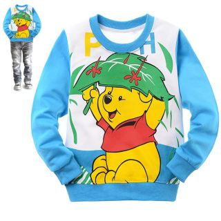Blue Baby Kids Boys Girls Winnie The Pool Long Sleeve T Shirt 2 8years D6656BU