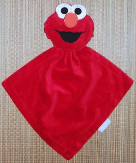 Sesame Street Elmo Security Blanket Lovey Rattle Plush Baby Toy Satin