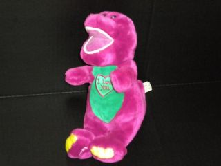 "11"" Golden Bear Lyons Singing Talking Barney Purple Dinosaur Plush Stuffed Toy"