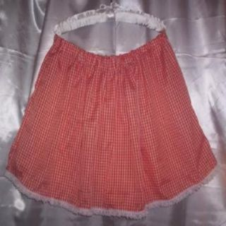 Custom Made Playful Adult Sissy Womens Mens Sexy Orange Checked Mini Skirt