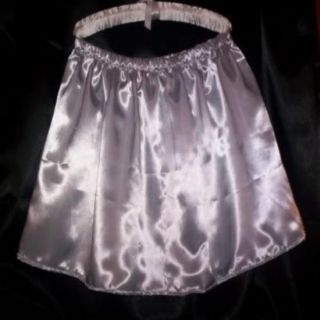 Custom Made Feminine Adult Sissy CD Sexy Silver Satin Men Womens Mini Skirt