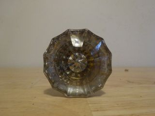 Pair Gorgeous Antique Glass Door Knobs Brass Vtg Victorian
