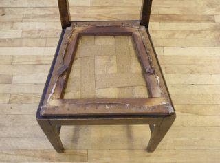 Antique Victorian Chair Arts Crafts Solid Oak High Back