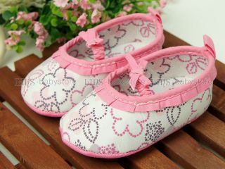 New Toddler Baby Girl Pink Floral Mary Jane Shoes UK Size 1 A788