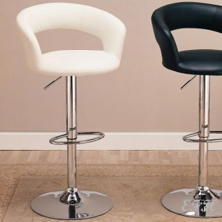 New Modern Roma White or Black Chrome Finish Bar Stool