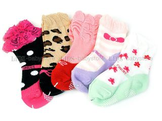 5 PR New Toddler Baby Girl Mary Jane Socks 12M 24M S59