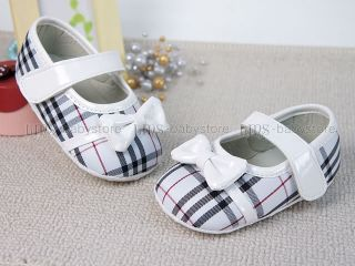 Toddler Baby Girl Classic Checker Mary Jane Shoes UK Size 1 2 3