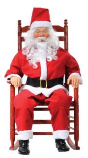 Rocking Chair Santa Animated Animatronic Life Size Prop Decor MR4124012 Cheap