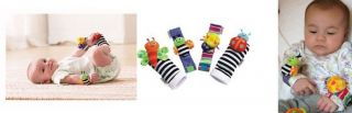 Baby Toys Lamaze Wrist Watch Rattles Foot Socks Rattles Hands Feet Finders 0M