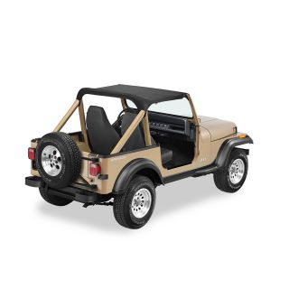 Bestop Strapless Bikini for 92 95 Jeep Wrangler YJ Black Denim