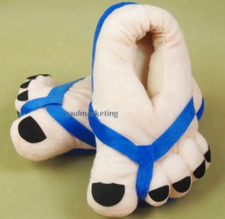 Funny Winter Toe Big Feet Warm Soft Plush Slippers Novelty Gift Adult Shoes