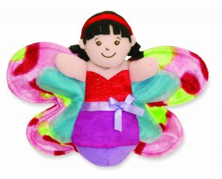 Manhattan Toy Flying Fairies Lila Childrens Fairies Hand Puppet Soft Plush Toy