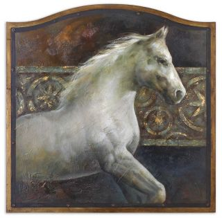 Hand Painted Artwork Majestic Friend Horse Painting Wall Art Home Decor